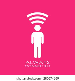 Always connected icon