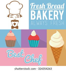 always fresh bakery products design, vector illustration eps10 graphic