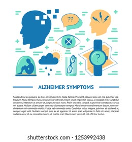 Alzheimer's disease banner template in flat style