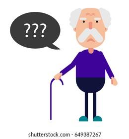 Alzheimer's Disease infographic in old man care. Poster or banner of World Alzheimer's day. Alzheimers Brain Diseases vector eps10 illustration.