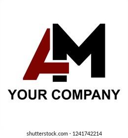 AM, MA initials letter company logo