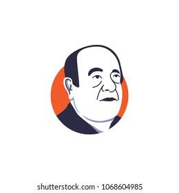 Amancio Ortega vector illustration isolated, suitable for your billionaire content