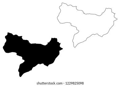 Amasya (Provinces of the Republic of Turkey) map vector illustration, scribble sketch Amasya ili map