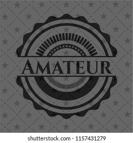 Amateur black emblem. Vintage.