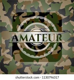 Amateur camouflaged emblem