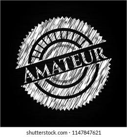 Amateur chalk emblem