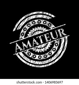 Amateur chalk emblem. Vector Illustration. Detailed.