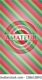 Amateur christmas colors emblem. Vector Illustration. Detailed.