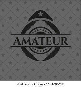 Amateur dark icon or emblem