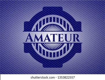 Amateur denim background