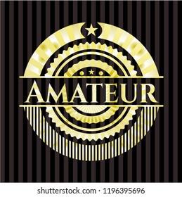Amateur gold shiny emblem