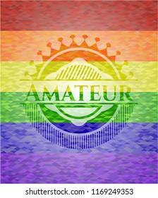 Amateur lgbt colors emblem