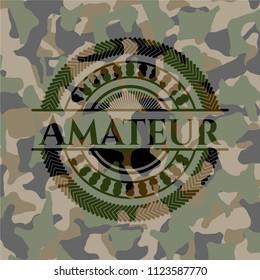 Amateur on camo pattern