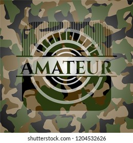 Amateur on camo texture