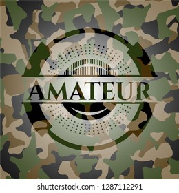 Amateur on camouflage pattern