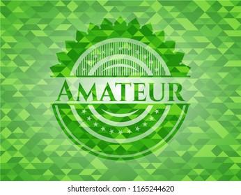 Amateur realistic green mosaic emblem