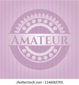 Amateur realistic pink emblem