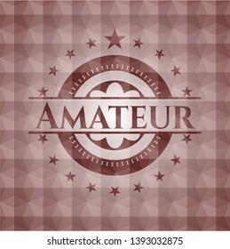 Amateur red seamless geometric emblem.