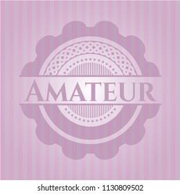 Amateur retro pink emblem