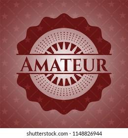 Amateur retro red emblem