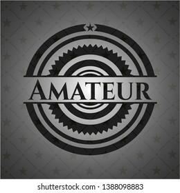 Amateur retro style black emblem. Vector Illustration. Detailed.