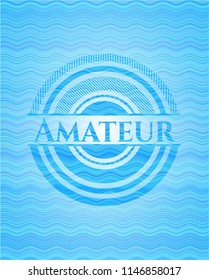 Amateur water representation emblem background.