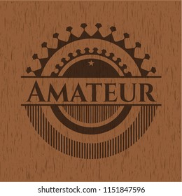 Amateur wood icon or emblem