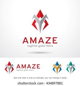 Amaze Letter A Logo Template Design Vector