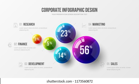 Amazing business infographic presentation vector illustration concept. Corporate marketing analytics data report creative design layout. Company statistics information graphic visualization template.