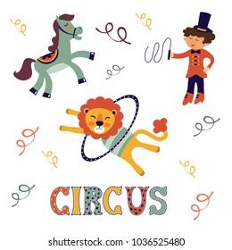 Amazing circus set