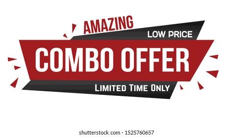 Amazing combo offer banner design on white background, vector illustration