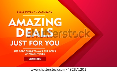 Amazing Deals Sale Offer Banner Stock Vector (Royalty Free ... d60080008a847