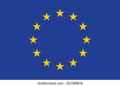 Amazing designed European Union flag as a vector.