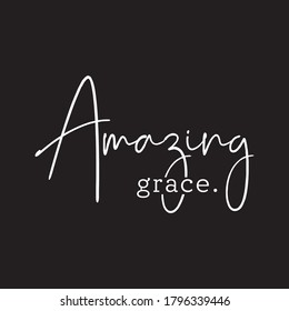 Amazing Grace Cross Typography Vector T shirt Design
