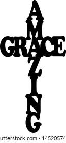 Amazing Grace Cross vector sign