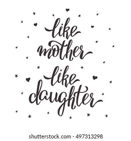 Mother Daughter Quotes Stock Illustrations, Images & Vectors ...