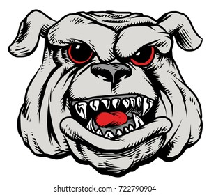 Amazing new, fast and furious Bulldog head logo, hand drawn digital masterpiece! Modern and professional, team badge design. Premium quality perfect for any wild animal t-shirt illustration.
