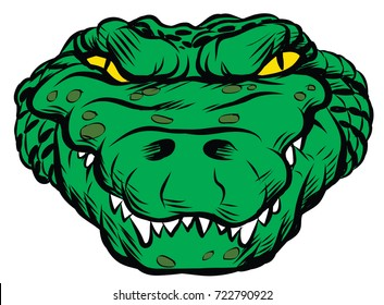 Amazing new, fast and furious head Gator logo, hand drawn digital masterpiece! Modern and professional, team badge design. Premium quality perfect for any wild animal t-shirt illustration.