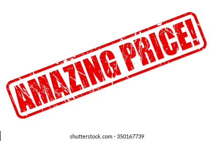 AMAZING PRICE red stamp text on white