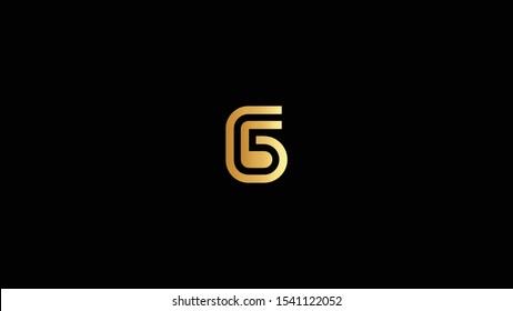 Amazing professional elegant minimal artistic black and gold color G G5 initial based Alphabet icon logo.