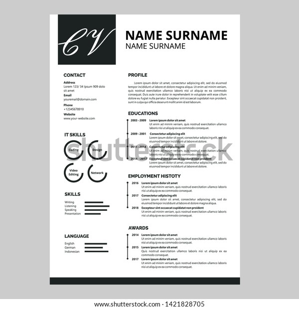 Amazing Resume Template Design Vector Stock Vector (Royalty ...