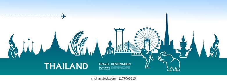 Amazing Thailand Travel Vector.