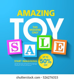 Amazing toy sale banner