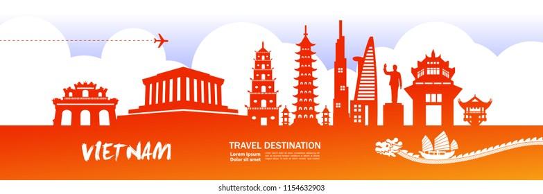 Amazing Vietnam Travel vector