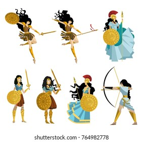 amazon greek women warriors collection