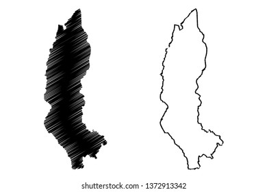 Amazonas Region (Republic of Peru, Regions of Peru) map vector illustration, scribble sketch Amazonas map