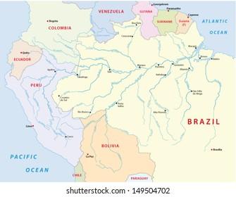 amazonas river map