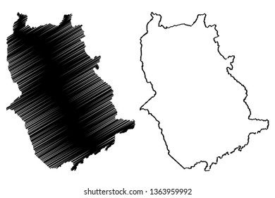 Amazonas State (Bolivarian Republic of Venezuela, States, Federal Dependencies and Capital District) map vector illustration, scribble sketch Amazonas map