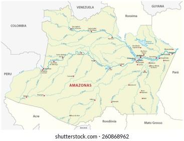 Manaus Map Images, Stock Photos & Vectors | Shutterstock