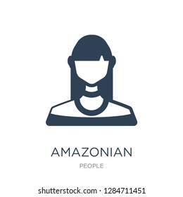 amazonian icon vector on white background, amazonian trendy filled icons from People collection, amazonian vector illustration